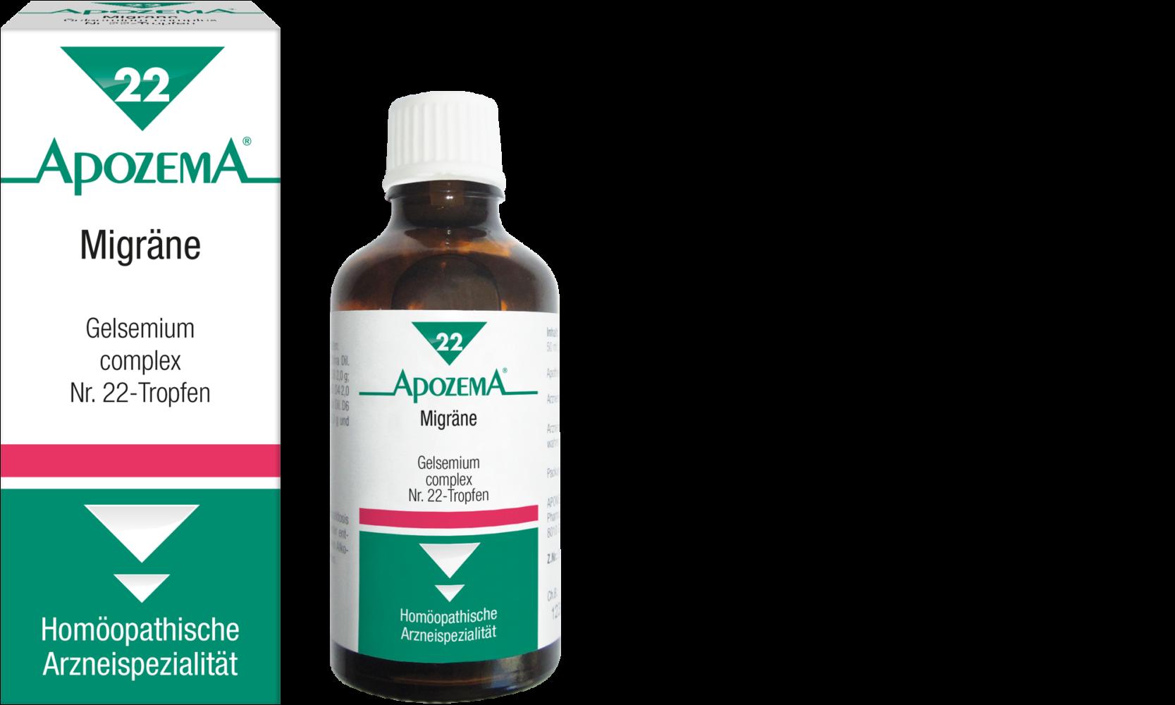 Apozema® Nr. 22 Migräne-Tropfen