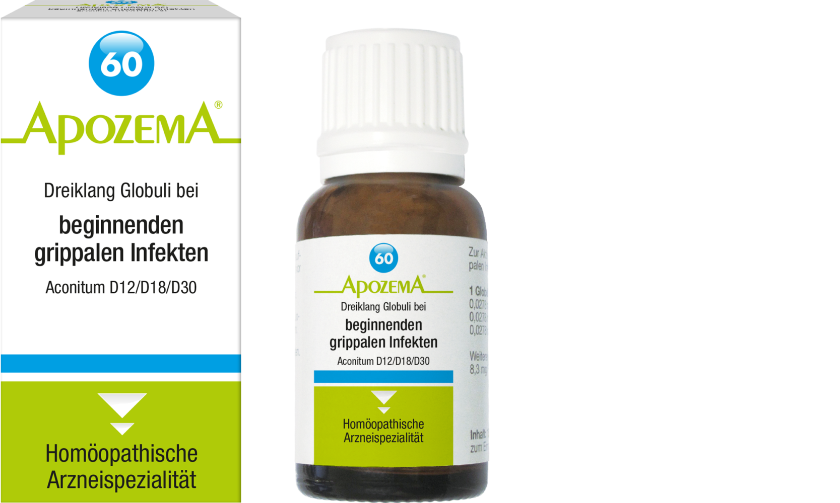 Apozema® Nr. 60: Dreiklang Globuli bei beginnenden grippalen Infekten