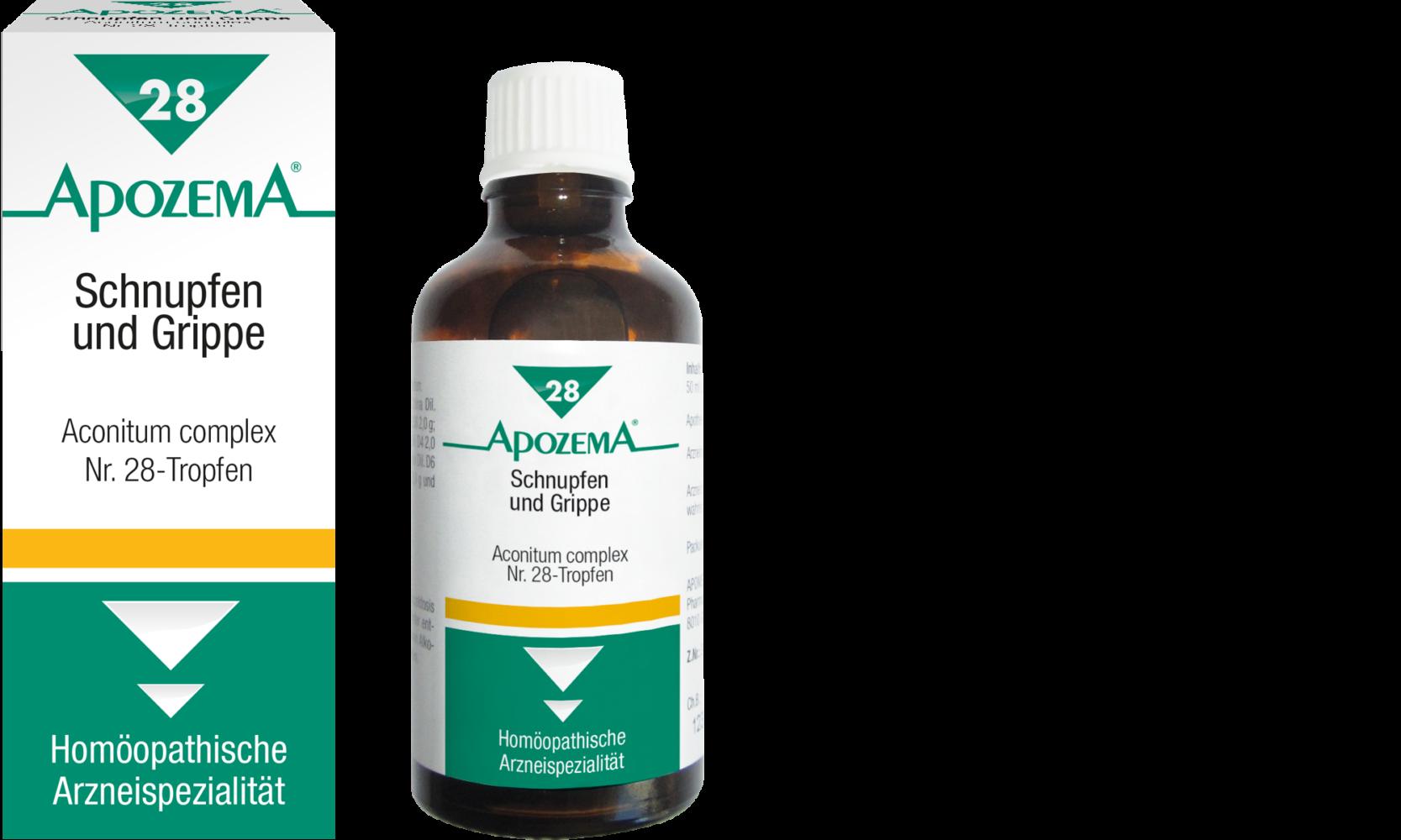 Apozema® Nr. 28 Schnupfen- und Grippe-Tropfen