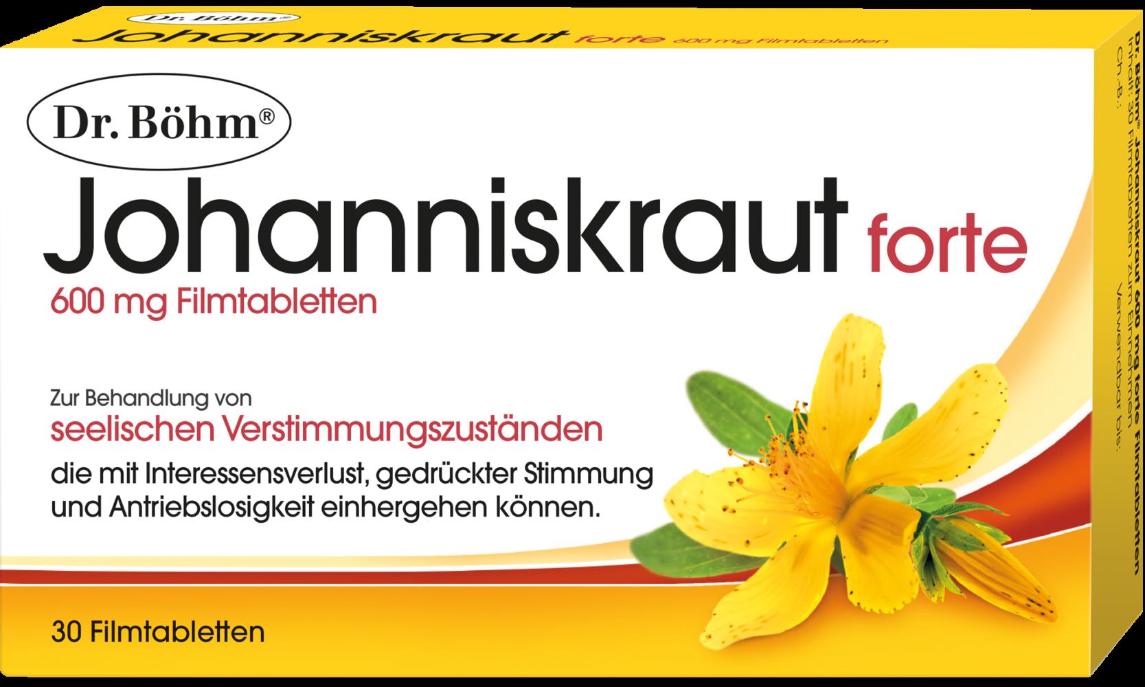 Dr. Böhm® Johanniskraut forte 600 mg Filmtabletten