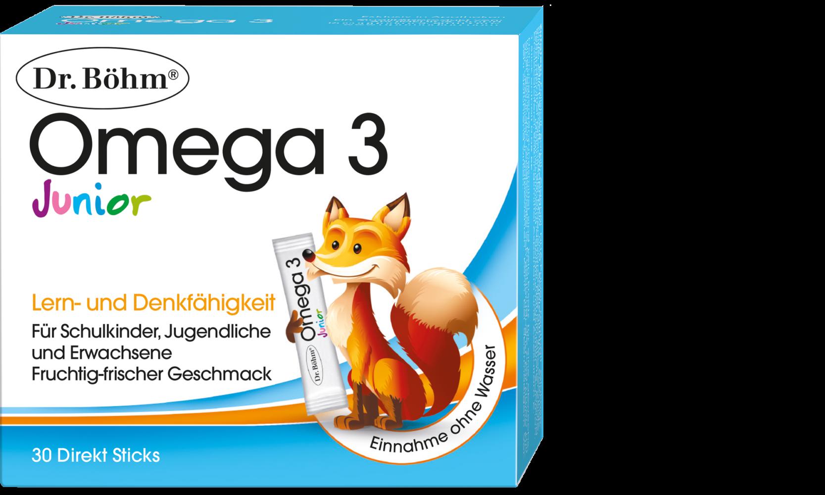 Dr. Böhm® Junior Omega 3 Direkt Sticks