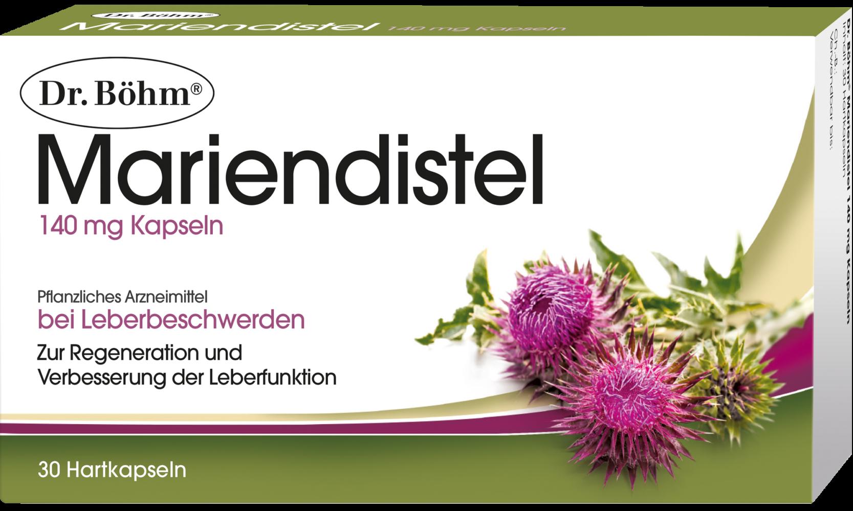 Dr. Böhm® Mariendistel. Für Leberfunktion und Regeneration der Leber ...