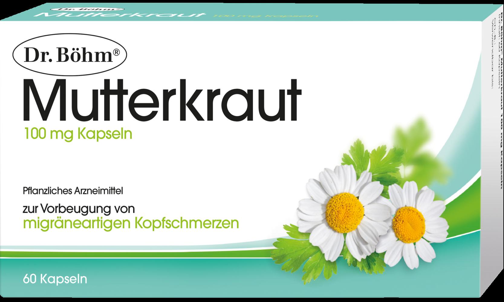 Dr. Böhm® Mutterkraut 100 mg Kapseln