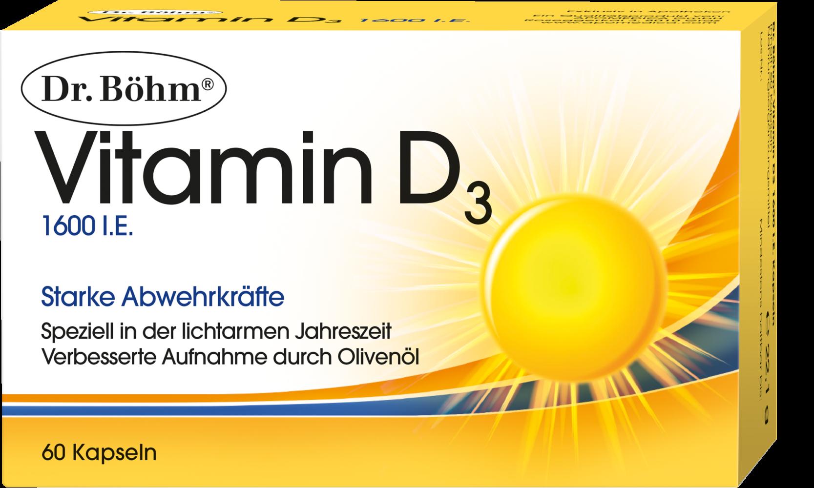 Dr. Böhm® Vitamin D3 1600 I.E. Kapseln