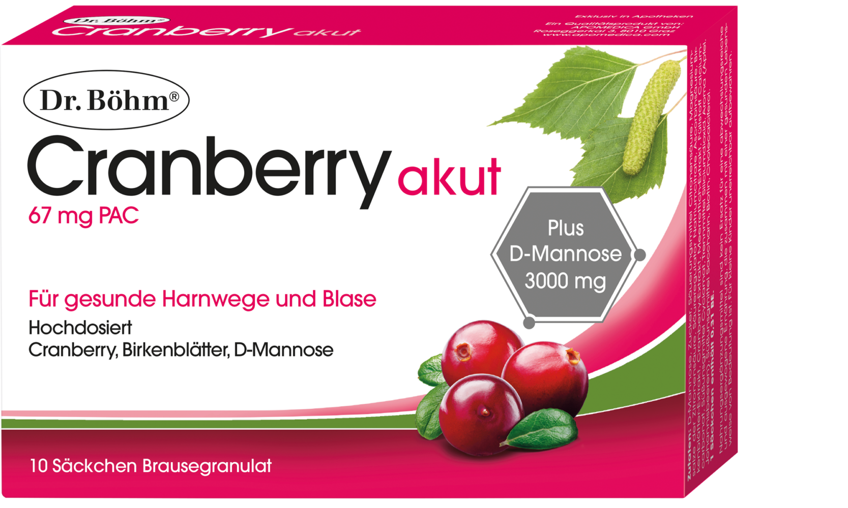 Dr. Böhm® Cranberry akut Brausegranulat