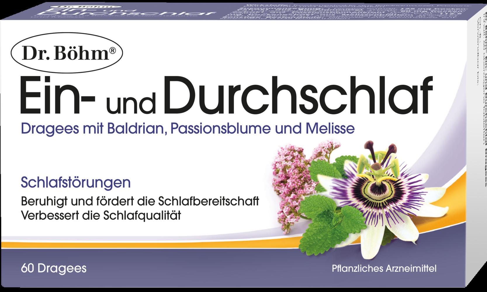 Dr. Böhm® Ein- und Durchschlaf; 60 Dragees; Pflanzliches Arzneimittel