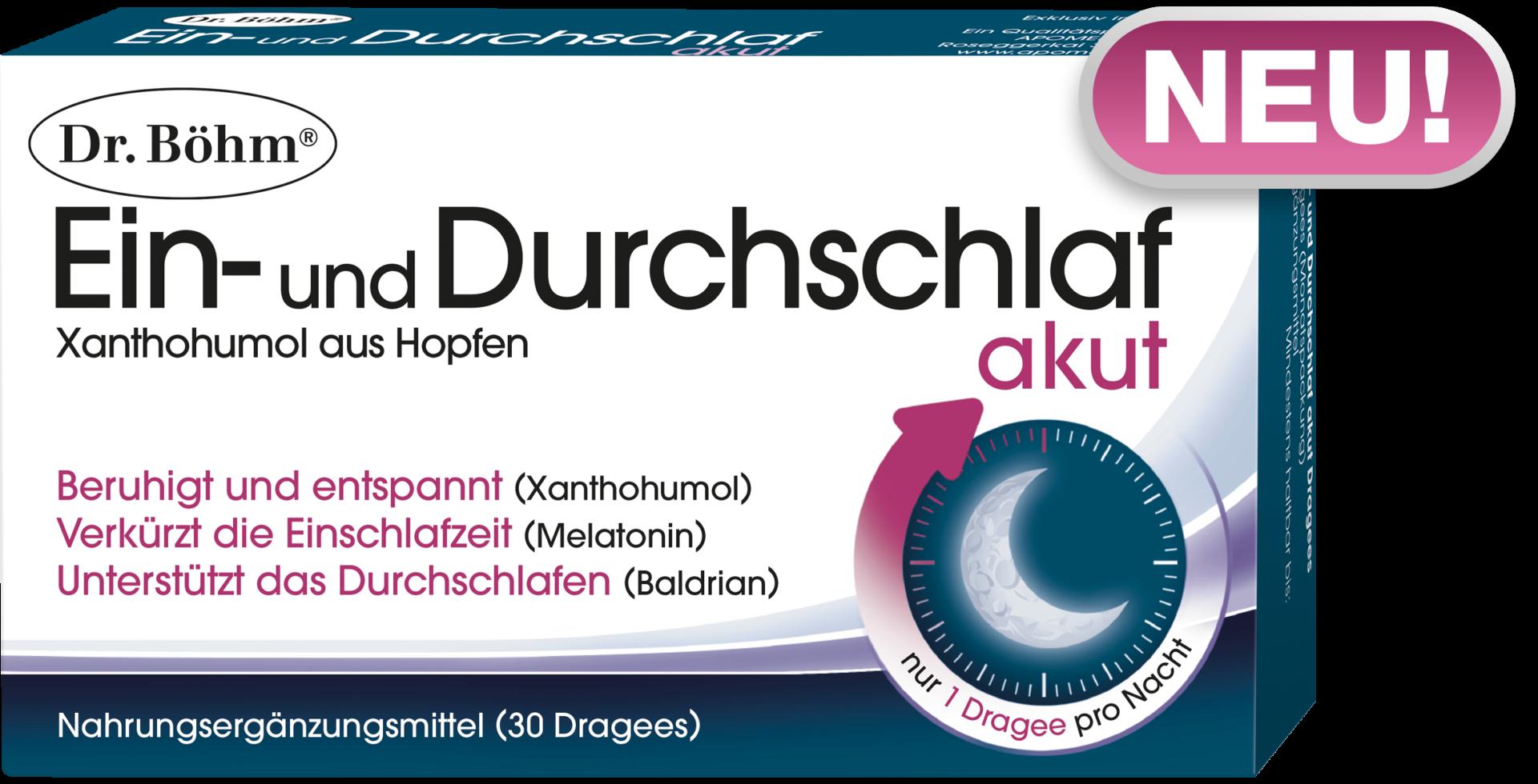 Dr. Böhm® Ein- und Durchschlaf akut; Nahrungsergänzungsmittel