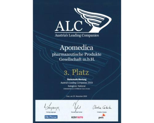 Austria's Leading Companies Award für Apomedica