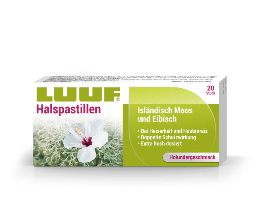 LUUF® Halspastillen isländisch Moos und Eibisch – Holunder