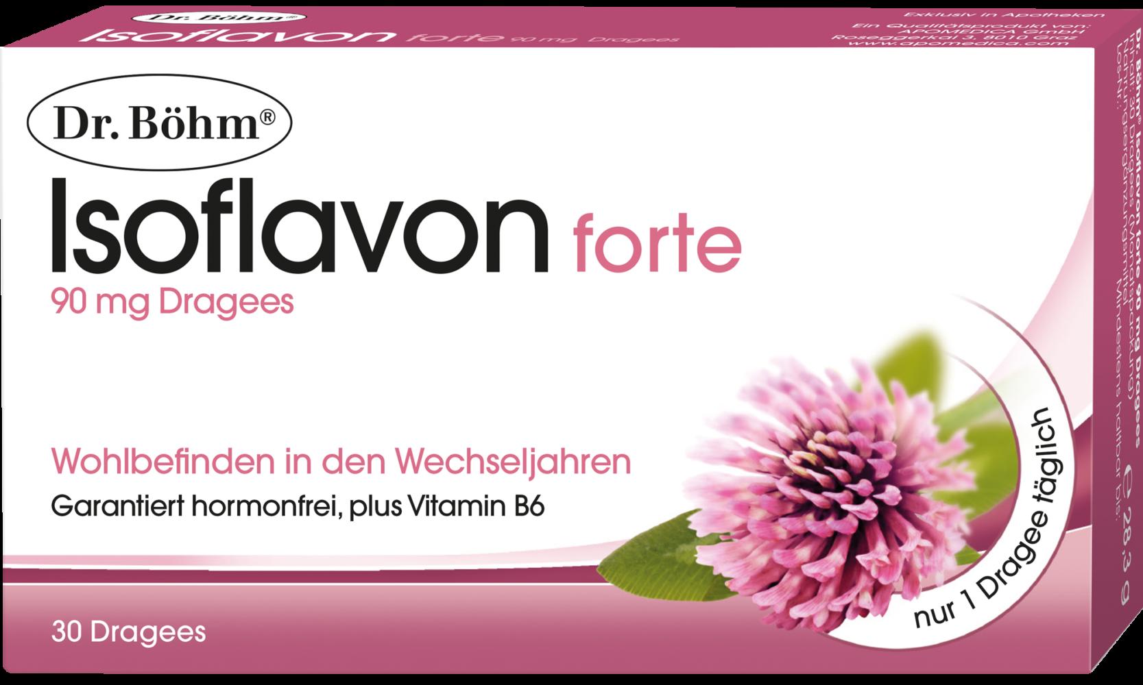 Dr. Böhm® Isoflavon forte, 90 mg Dragees - Wohlbefinden in den Wechseljahren