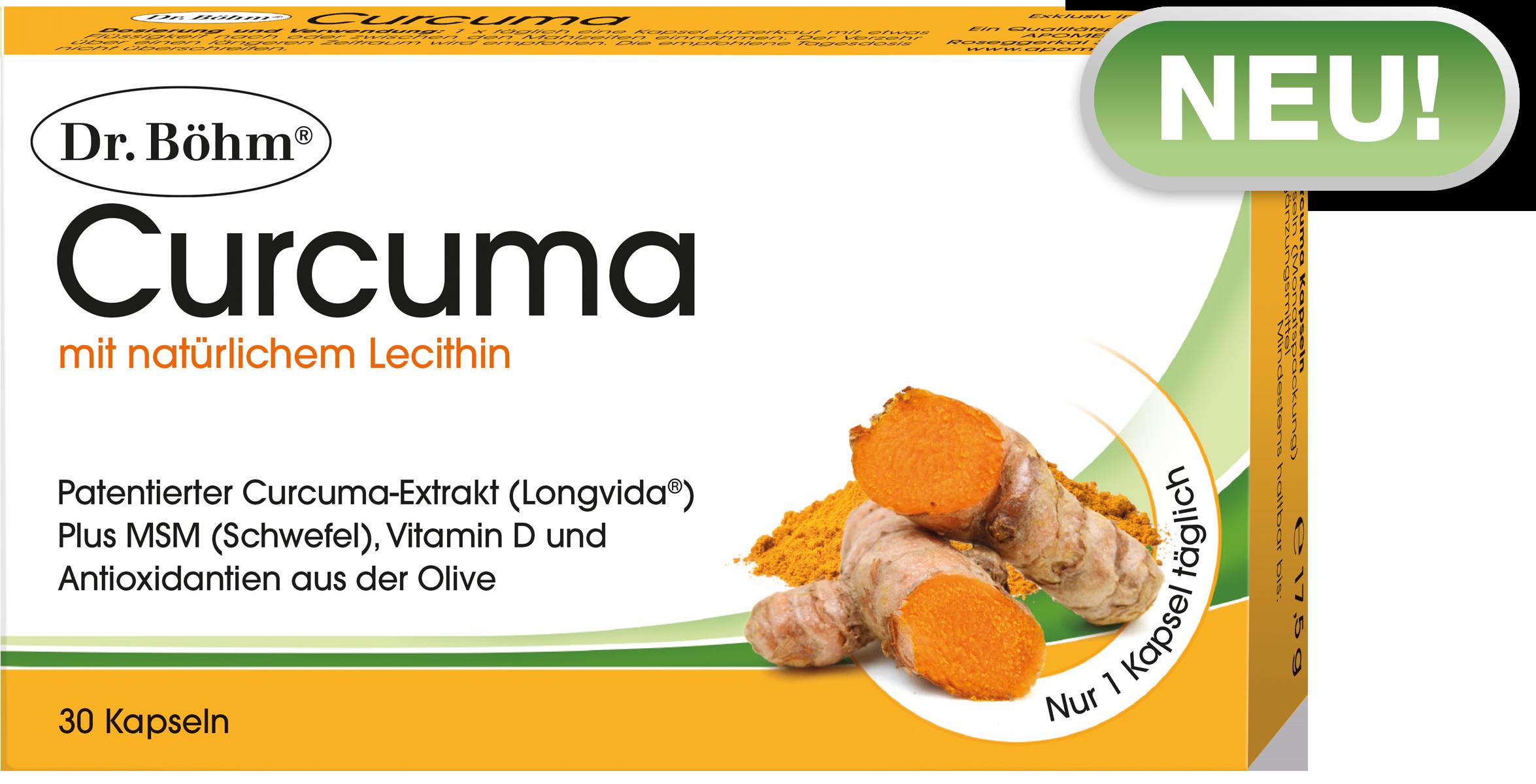 Dr. Böhm® Curcuma Kapseln, Nahrungsergänzungsmittel