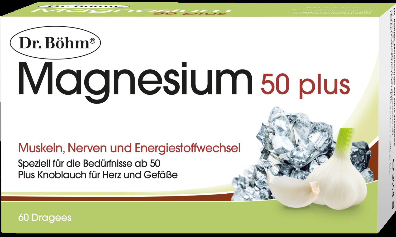 Dr. Böhm® Magnesium 50 plus, Muskeln, Nerven und Energiestoffwechsel