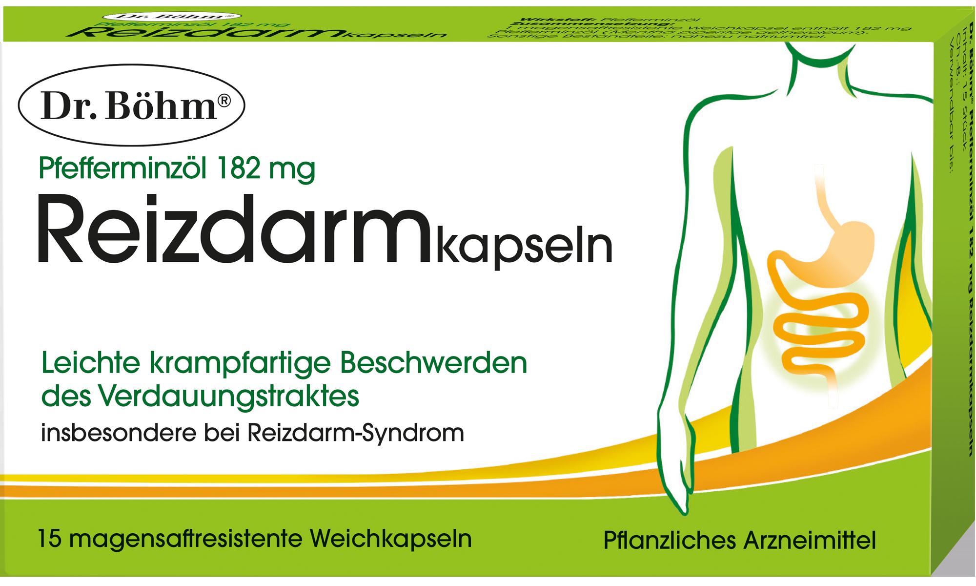 Dr. Böhm® Reizdarmkapseln, Pfefferminzöl 182 mg, Pflanzliches Arzneimittel
