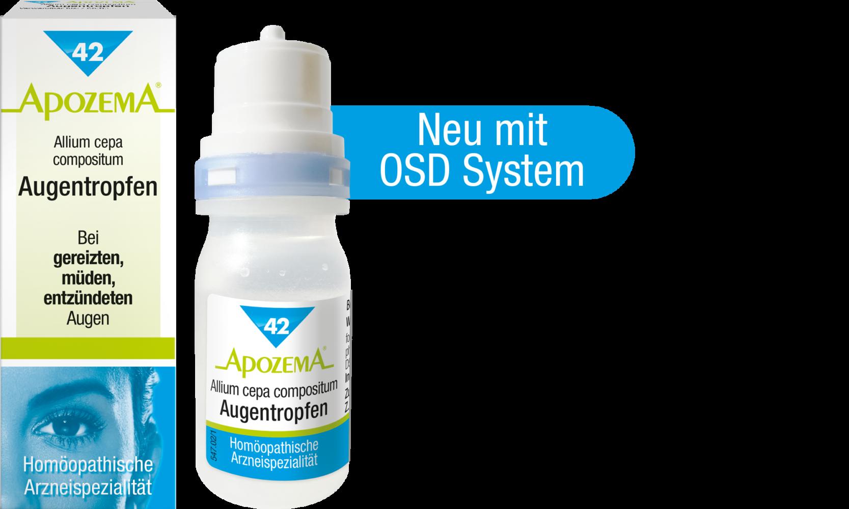 Apozema® Nr. 42 Allium cepa compositum Augentropfen, Homöopathische Arzneispezialität