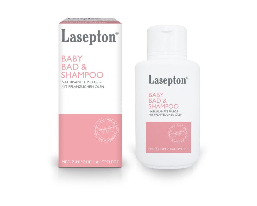 Lasepton® Baby Bad & Shampoo; natursanfte Pflege - mit pflanzlichen Ölen