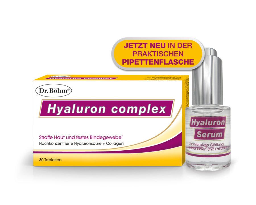 Dr. Böhm® Hyaluron complex + Hyaluron Serum - hochkonzentrierte Hyaluronsäure + Collagen