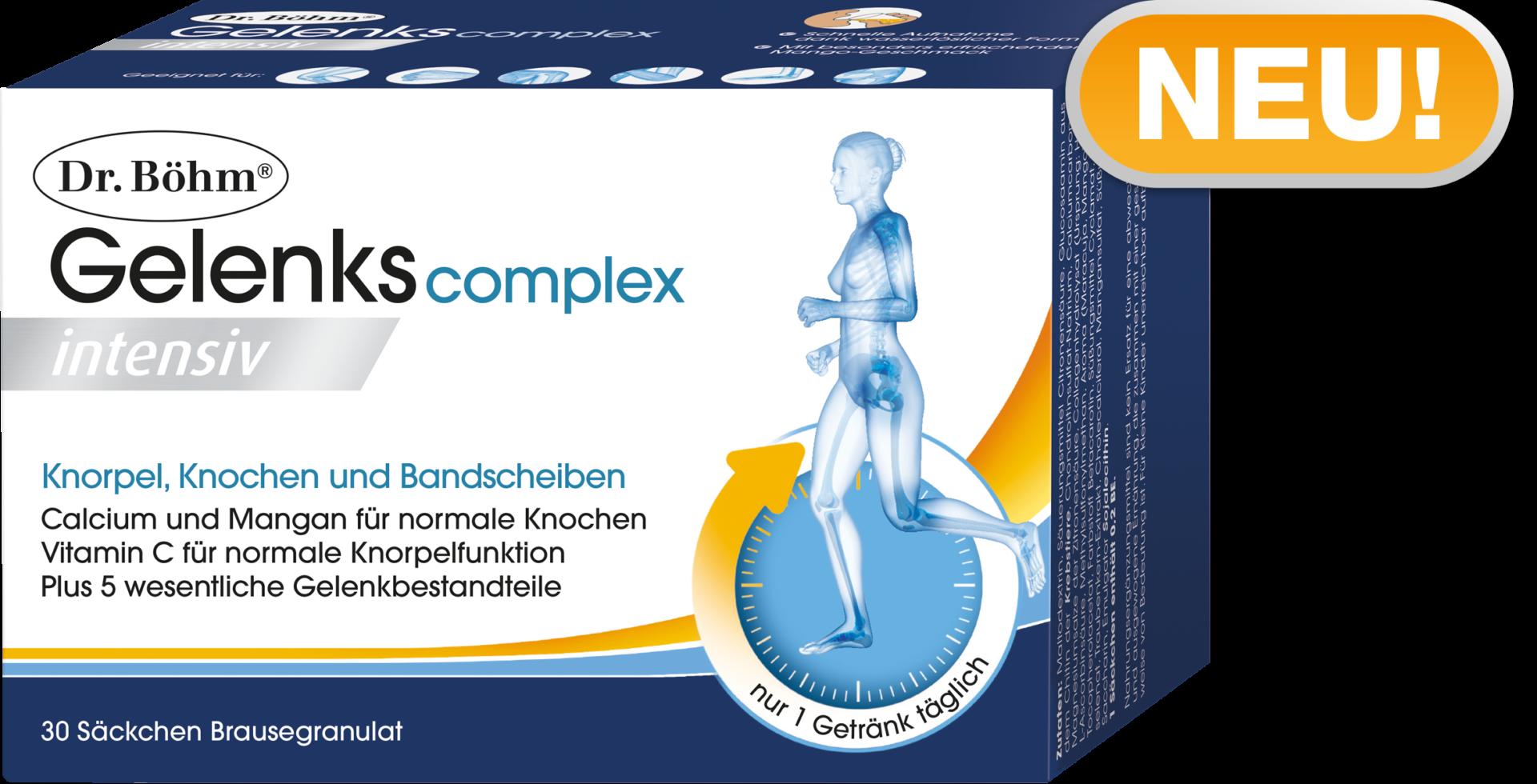 Dr. Böhm® Gelenks complex intensiv. Hochdosiertes Brausegetränk