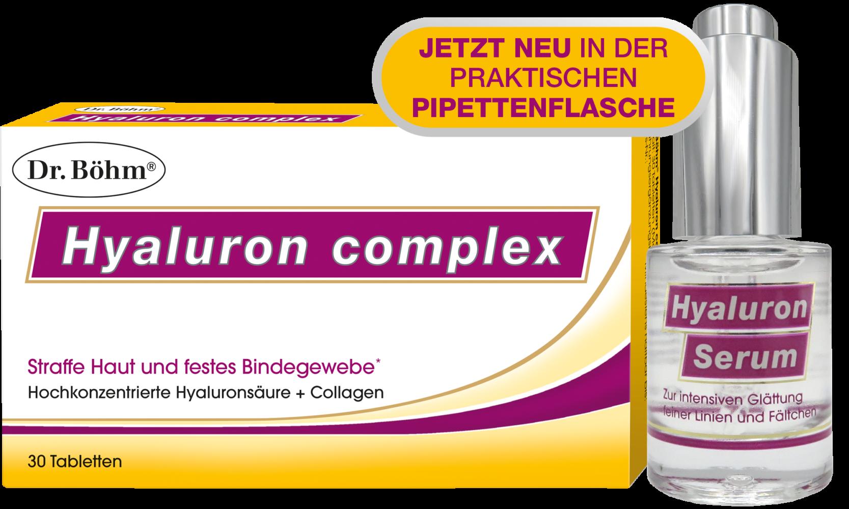 Dr. Böhm® Hyaluron complex Tabletten + Hyaluron Serum
