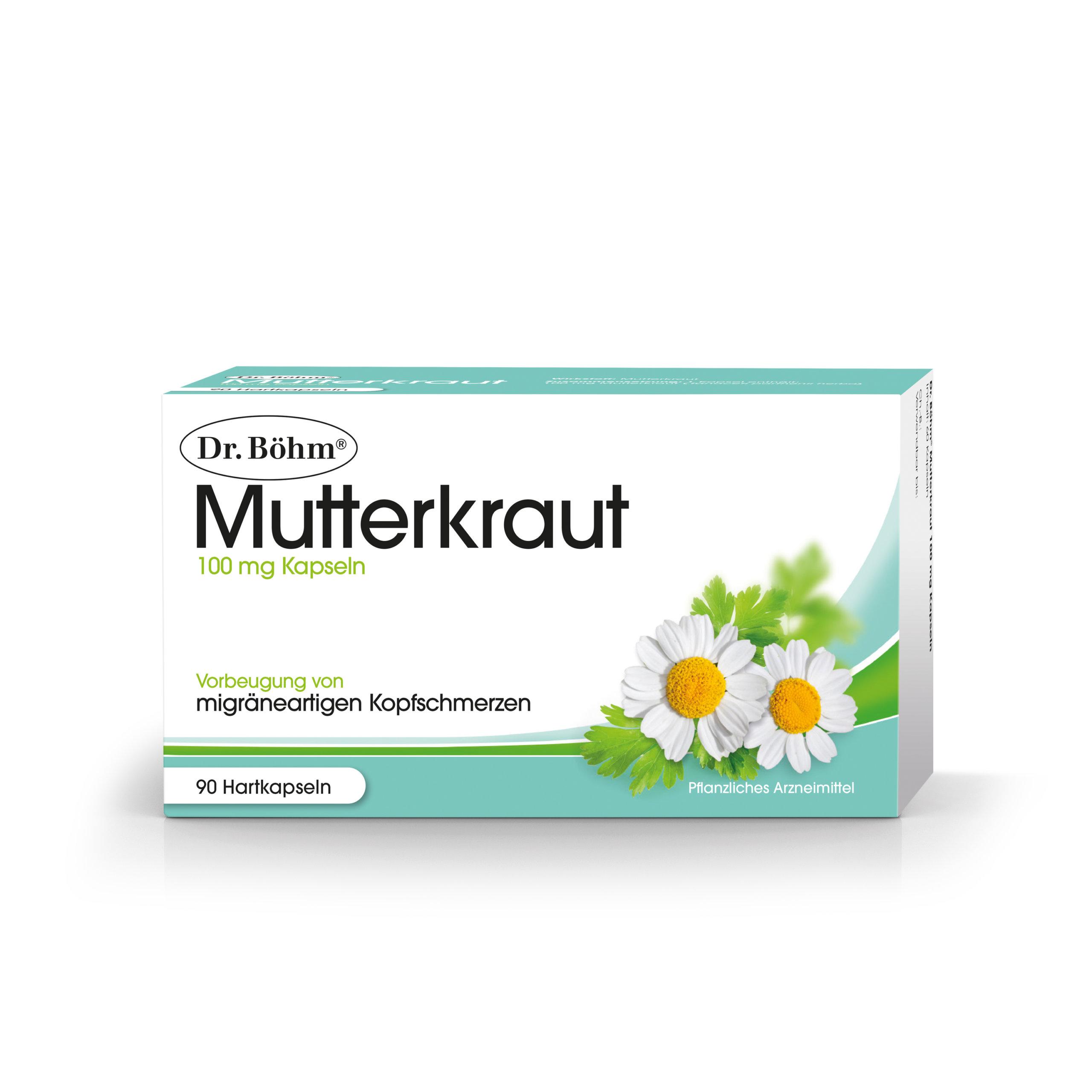 Dr. Böhm® Mutterkraut 100 mg Kapseln, Vorbeugung von migräneartigen Kopfschmerzen