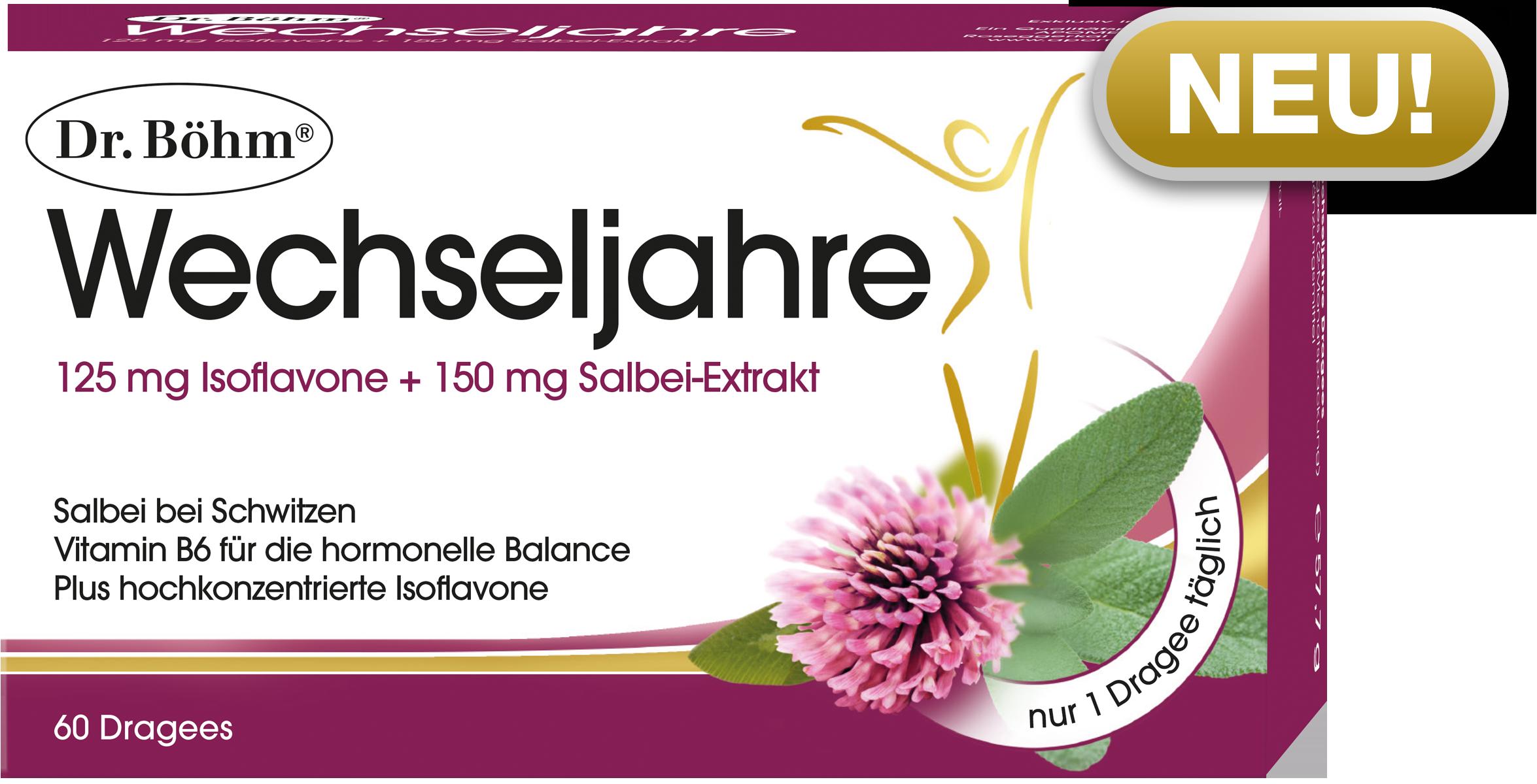 Dr. Böhm® Wechseljahre, Salbei und Isoflavone für unbeschwerte Wechseljahre