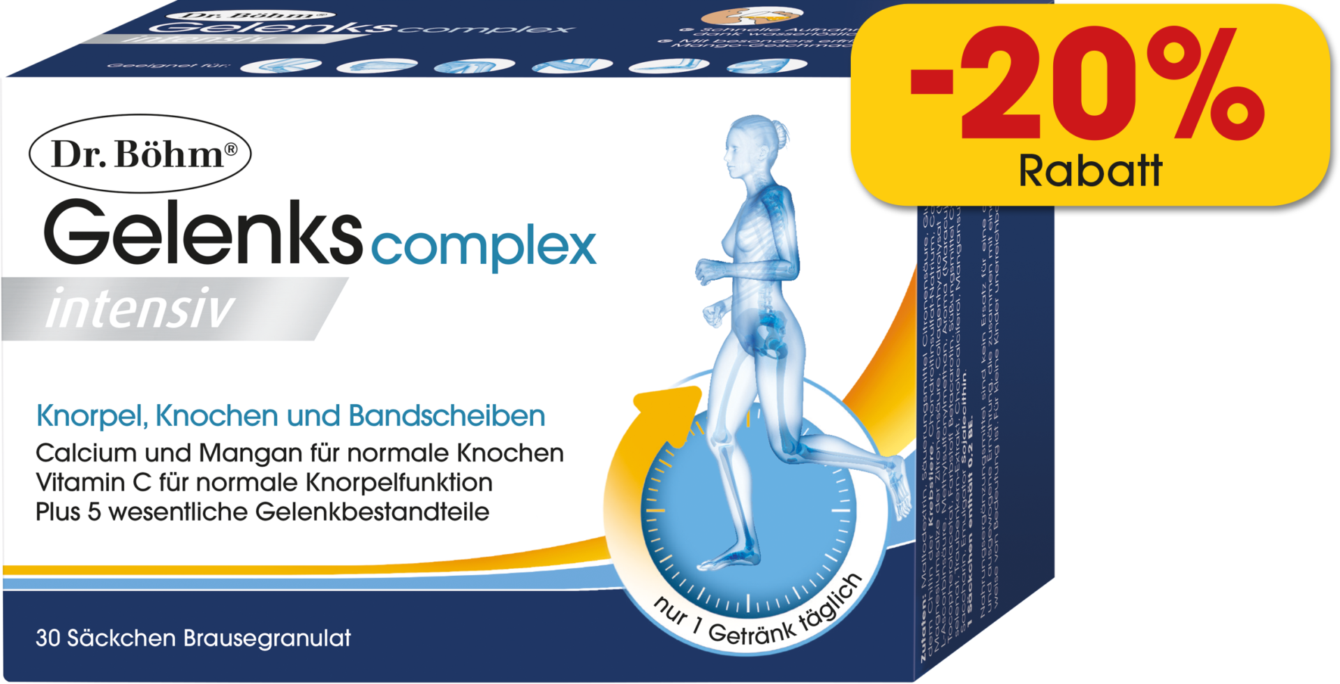 Dr. Böhm® Gelenks complex intensiv Brausegranulat