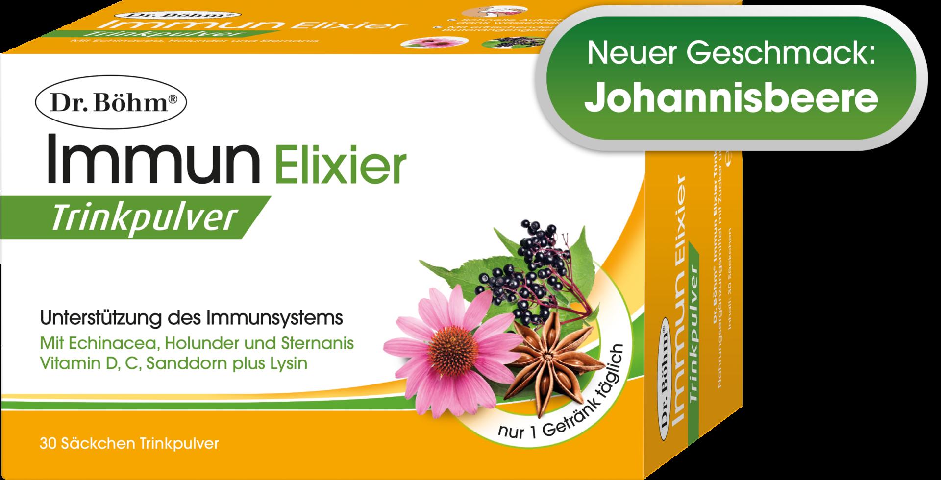 Dr. Böhm® Immun Elixier Trinkpulver - Unterstützung des Immunsystems durch Pflanzenkraft